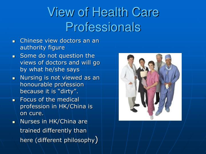 View of Health Care Professionals