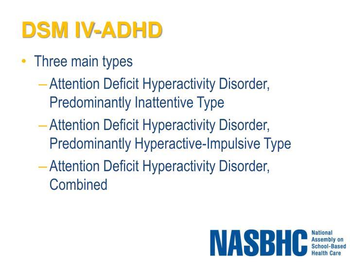DSM IV-ADHD