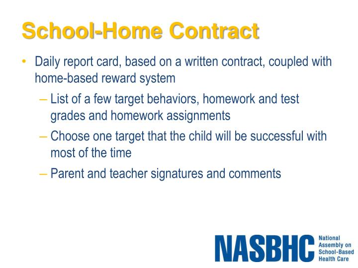 School-Home Contract
