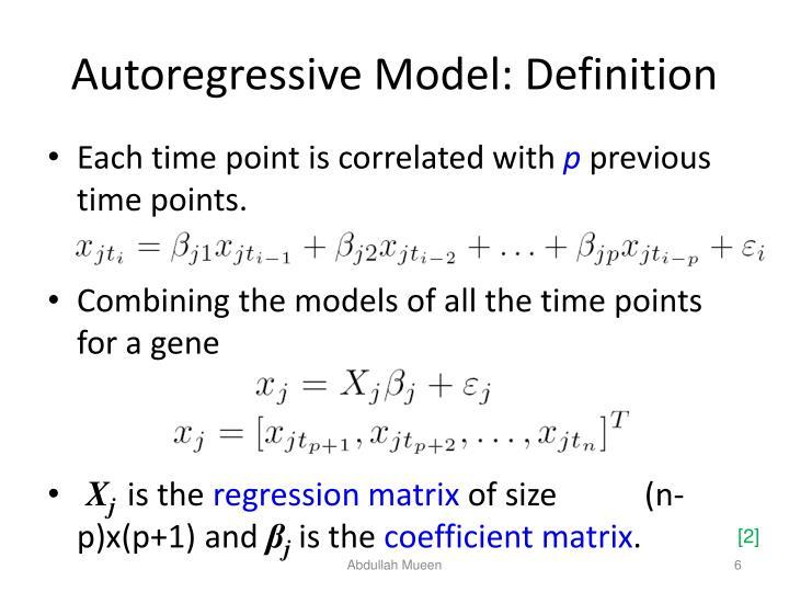 Autoregressive Model: Definition