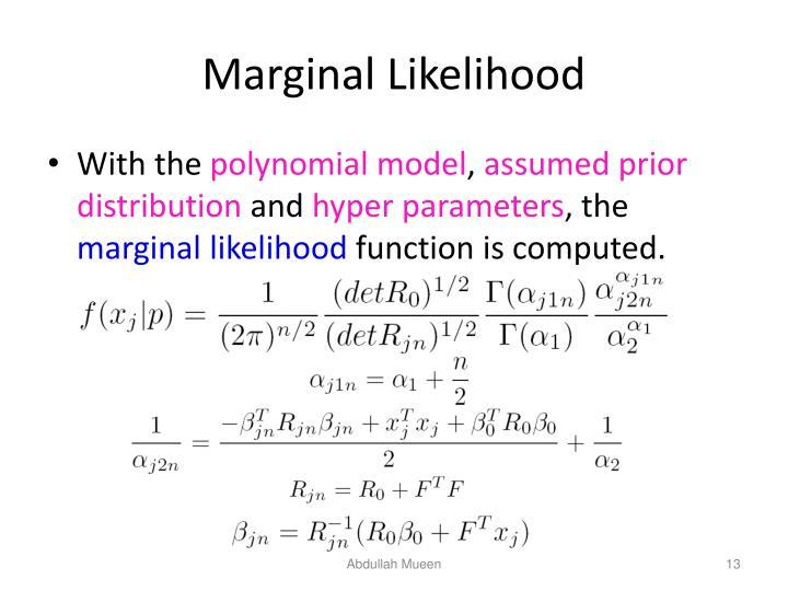 Marginal Likelihood