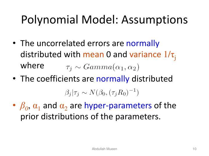 Polynomial Model: Assumptions