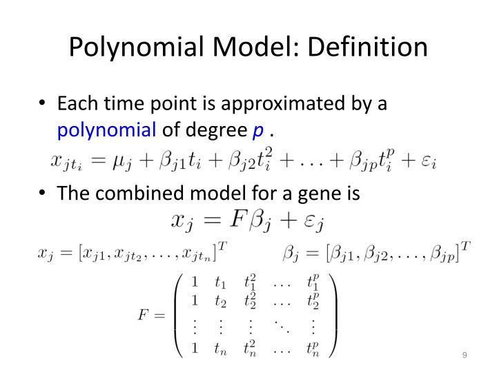 Polynomial Model: Definition