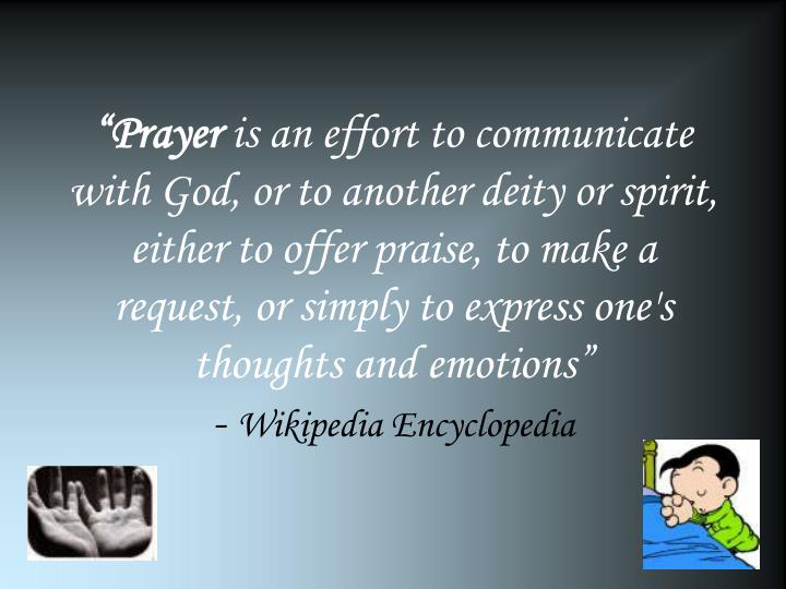"""Prayer"