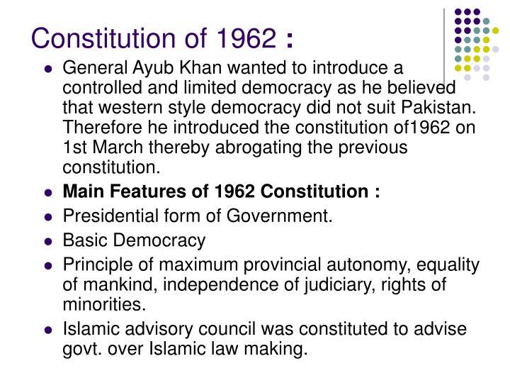 Constitution of 1962
