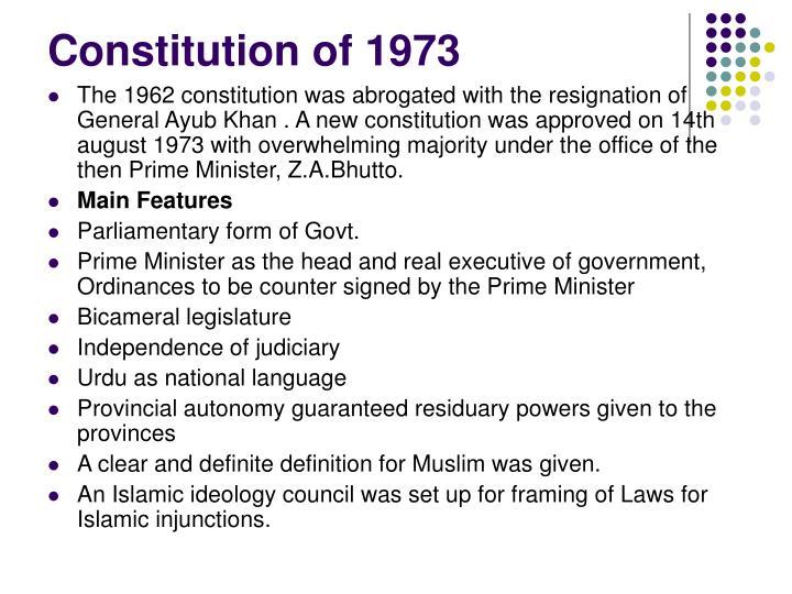 Constitution of 1973