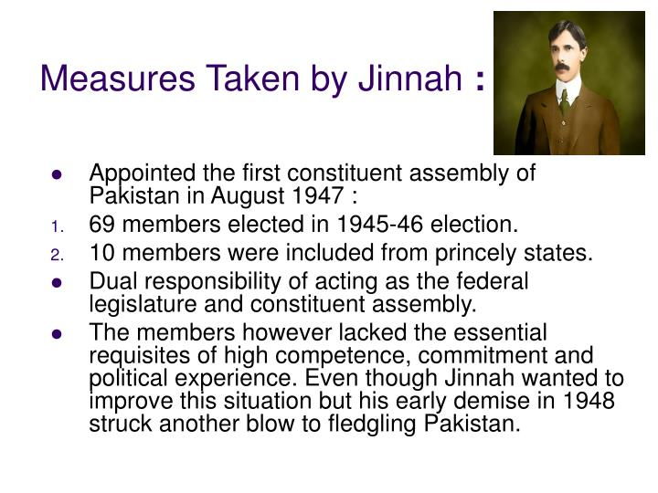 Measures taken by jinnah