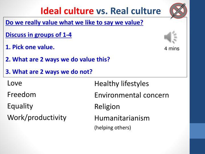 Ideal culture
