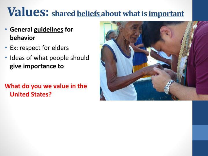 Values: