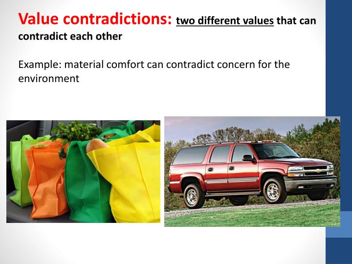 Value contradictions: