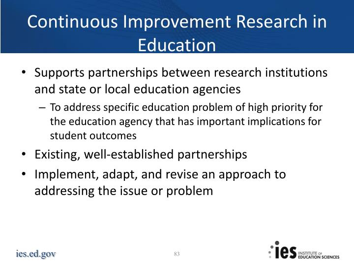 Continuous Improvement Research in Education