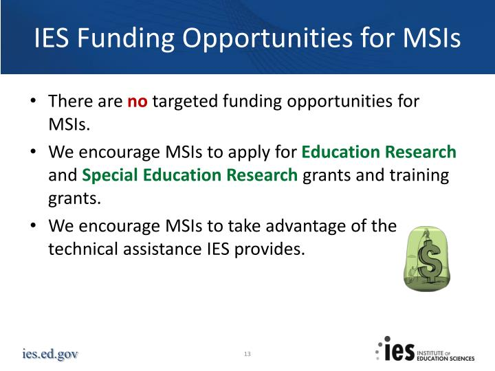 IES Funding Opportunities for MSIs
