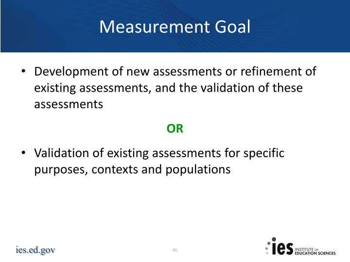 Measurement Goal