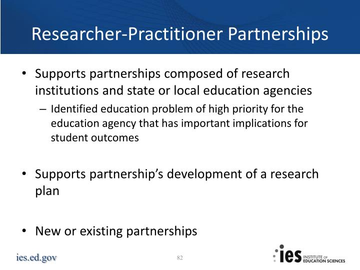 Researcher-Practitioner Partnerships