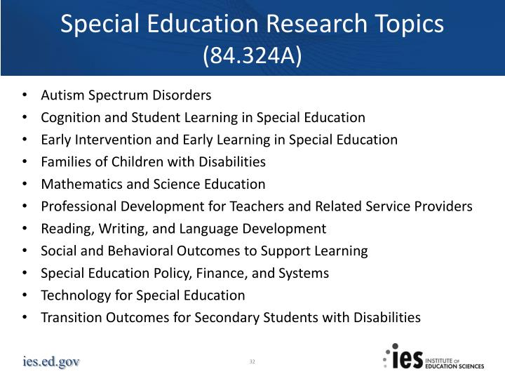 Special Education Research Topics