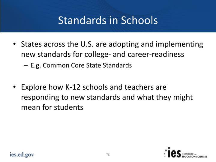 Standards in Schools