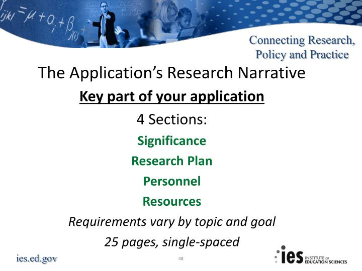 The Application's Research Narrative