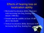 effects of hearing loss on localization ablility