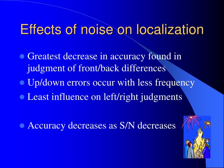 Effects of noise on localization