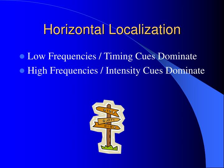 Horizontal Localization