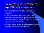 source azimuth in noise test saint vermiglio 1999