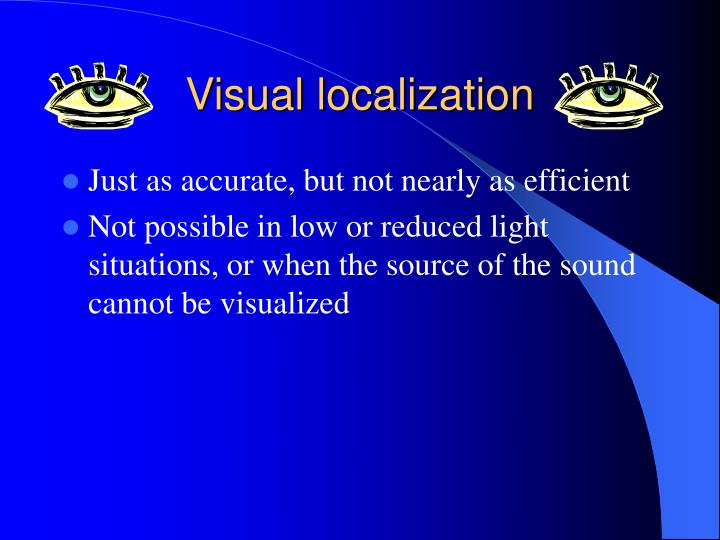 Visual localization