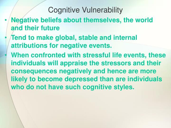 Cognitive Vulnerability