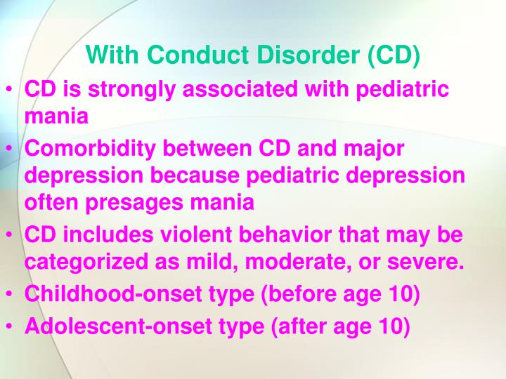 With Conduct Disorder (CD)