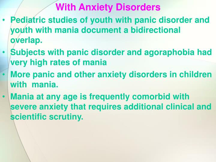 With Anxiety Disorders