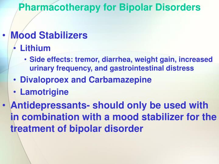 Pharmacotherapy for Bipolar Disorders