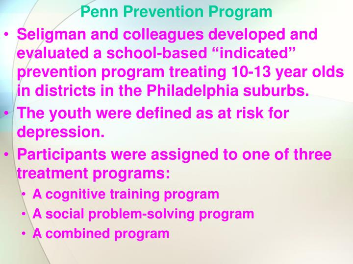 Penn Prevention Program