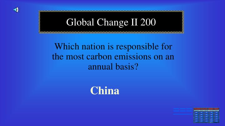 Which nation is responsible for the most carbon emissions on an annual basis?