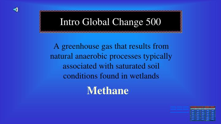 A greenhouse gas that results from natural anaerobic processes typically associated with saturated soil conditions found in wetlands