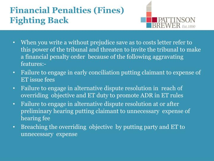 Financial Penalties (Fines) Fighting Back