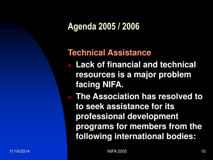 Agenda 2005 / 2006