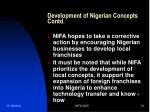 development of nigerian concepts contd1