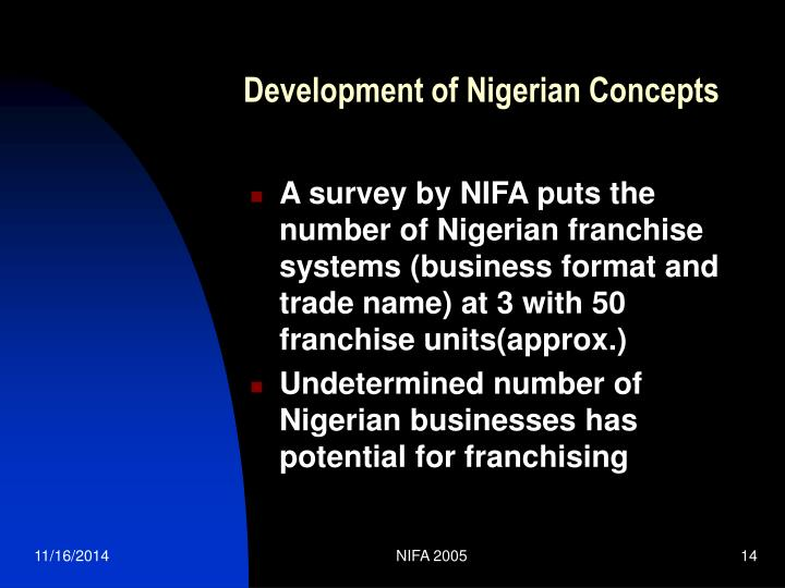Development of Nigerian Concepts