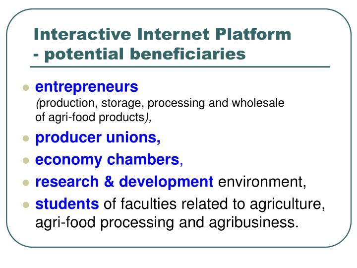 Interactive Internet Platform