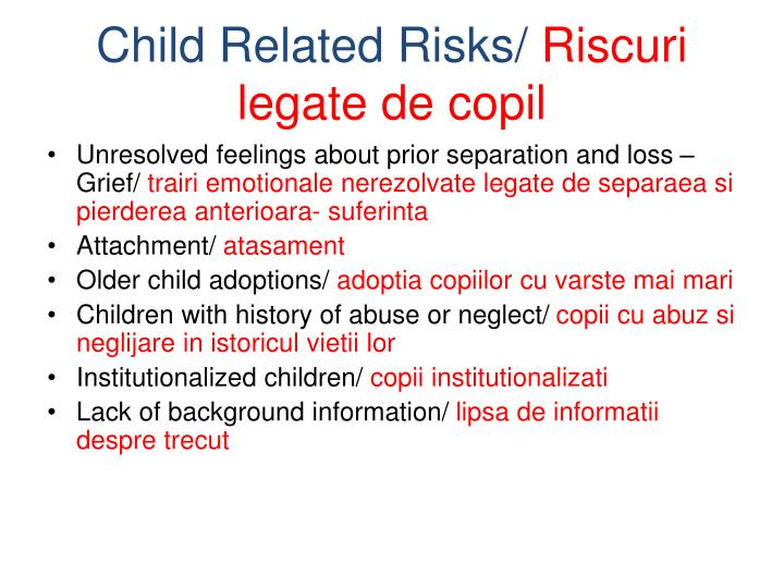 Child Related Risks/
