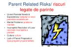 parent related risks riscuri legate de parinte