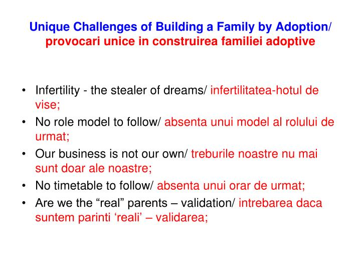 Unique Challenges of Building a Family by Adoption/