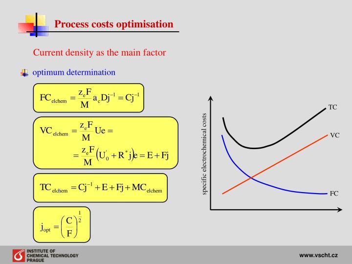 Process costs optimisation