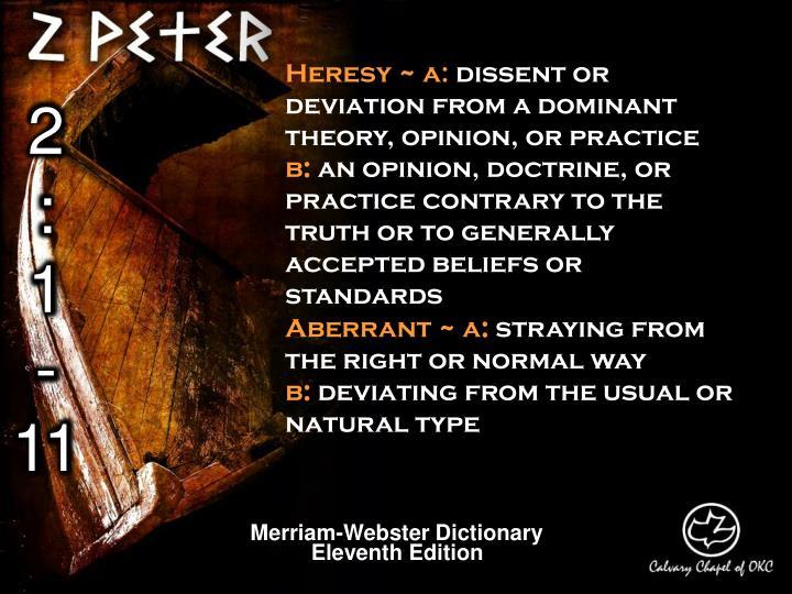 Heresy ~ a: