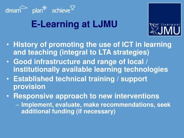 E-Learning at LJMU