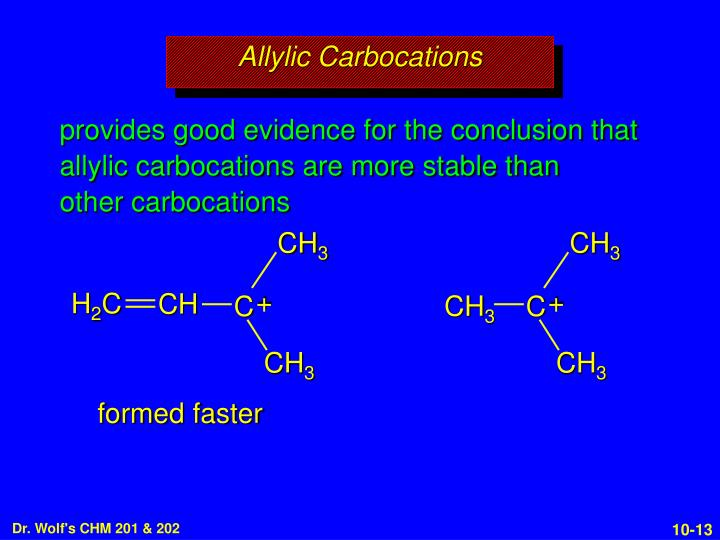 Allylic Carbocations