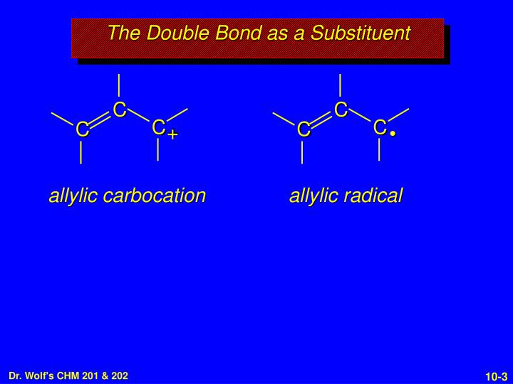 The double bond as a substituent1