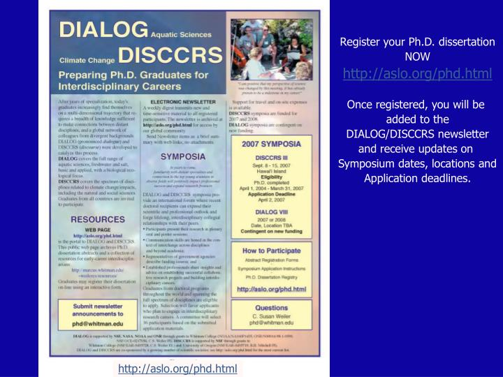 Register your Ph.D. dissertation