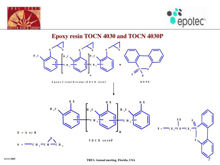 Epoxy resin TOCN 4030 and TOCN 4030P