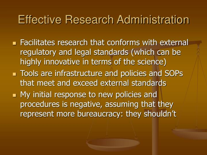 Effective Research Administration