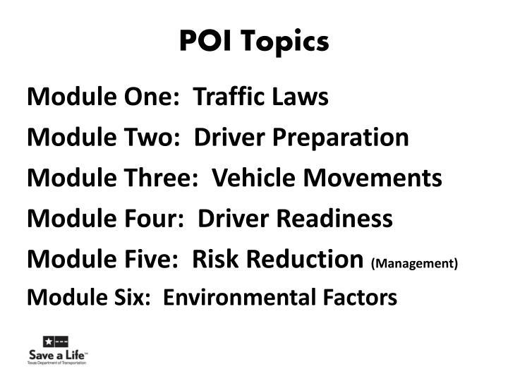 POI Topics
